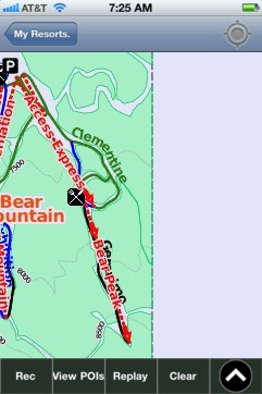 Bear Mountain ski map - iPhone Ski App