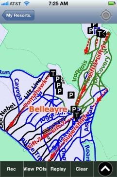 Belleayre ski map - iPhone Ski App