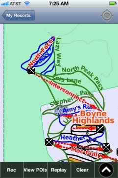 Boyne Highlands ski map - iPhone Ski App