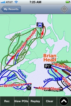 Brian Head ski map - iPhone Ski App
