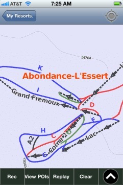 Abondance ski map - iPhone Ski App
