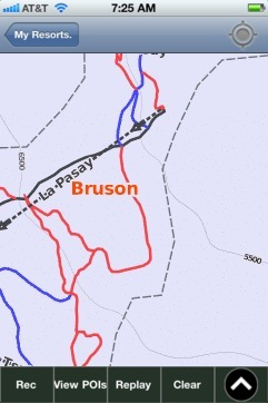 Bruson ski map - iPhone Ski App