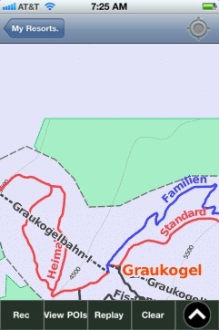 Graukogel ski map - iPhone Ski App