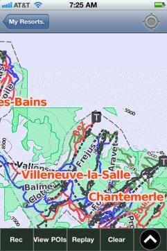 Serre Chevalier ski map - iPhone Ski App