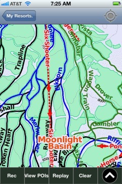 Moonlight Basin ski map - iPhone Ski App