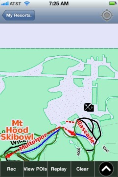Mt Hood Skibowl ski map - iPhone Ski App