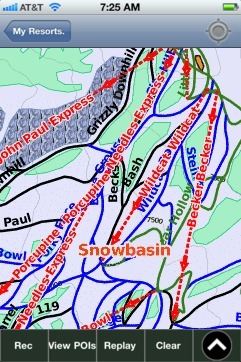 Snowbasin ski map - iPhone Ski App