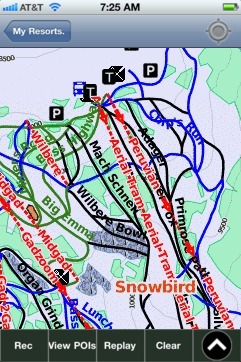 Snowbird ski map - iPhone Ski App