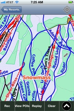 Snowmass ski map - iPhone Ski App