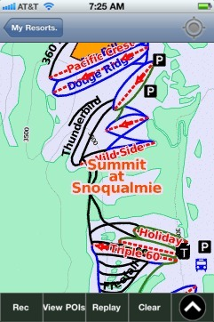 Summit at Snoqualmie ski map - iPhone Ski App