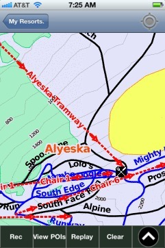 Alyeska ski map - iPhone Ski App
