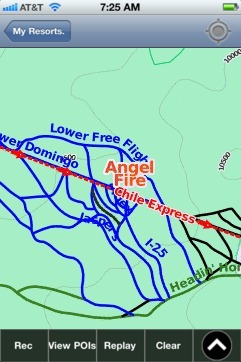 Angel Fire, NM ski map - iPhone Ski App