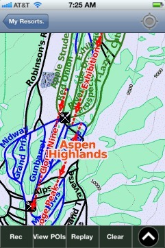 Aspen Highlands ski map - iPhone Ski App