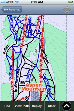 Aspen Mountain ski map - iPhone Ski App