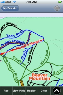 Beaver Mountain ski map - iPhone Ski App