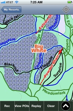 Big White ski map - iPhone Ski App