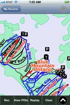 Blue Mountain(Ontario) ski map - iPhone Ski App