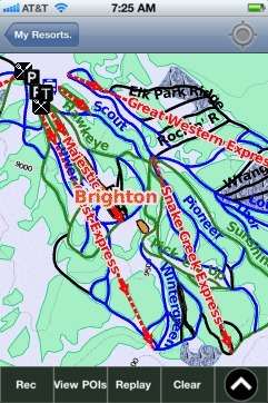 Brighton ski map - iPhone Ski App