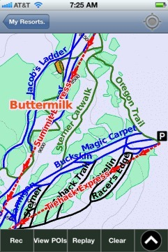 Buttermilk ski map - iPhone Ski App