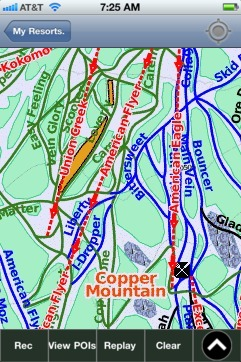 Copper Mountain ski map - iPhone Ski App