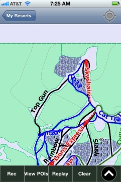 Cypress ski map - iPhone Ski App