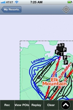 Elk Mountain ski map - iPhone Ski App
