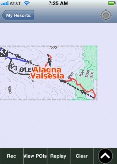 Alagna Valsesia ski map - iPhone Ski App
