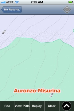 Auronzo-Misurina ski map - iPhone Ski App