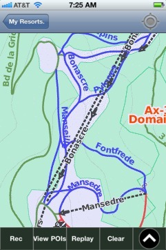 Ax-3 Domaines ski map - iPhone Ski App