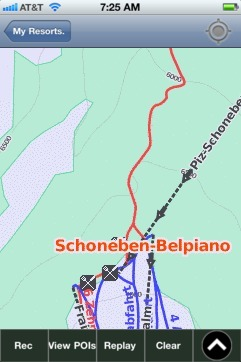 Schoneben-Belpiano ski map - iPhone Ski App