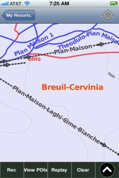 Breuil-Cervinia ski map - iPhone Ski App