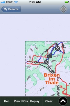 Brixen im Thale ski map - iPhone Ski App