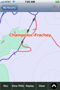 Champoluc-Frachey ski map - iPhone Ski App