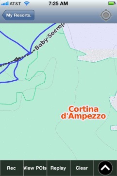 Cortina d'Ampezzo ski map - iPhone Ski App