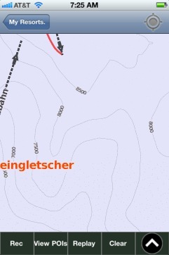 Dachsteingletscher ski map - iPhone Ski App