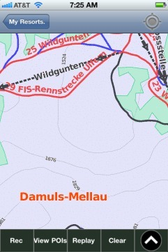 Damuls-Mellau ski map - iPhone Ski App