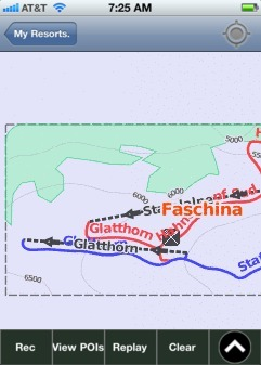 Faschina ski map - iPhone Ski App