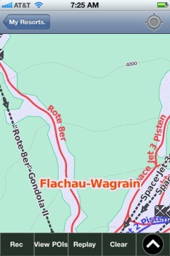 Flachau-Wagrain ski map - iPhone Ski App
