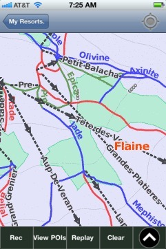 Flaine ski map - iPhone Ski App