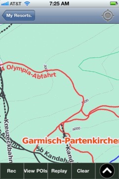 Garmisch-Partenkirchen ski map - iPhone Ski App