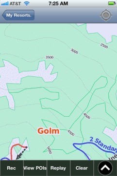 Golm ski map - iPhone Ski App