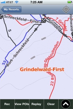Grindelwald-First ski map - iPhone Ski App