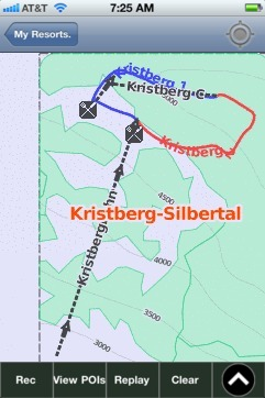 Kristberg-Silbertal ski map - iPhone Ski App