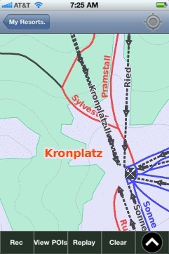 Kronplatz ski map - iPhone Ski App