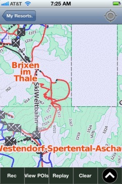 Ki-West/Wilder Kaiser-Brixental ski map - iPhone Ski App