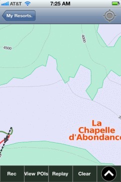 La Chapelle d'Abondance ski map - iPhone Ski App
