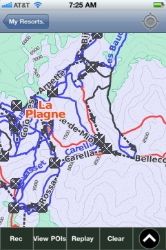 La Plagne ski map - iPhone Ski App