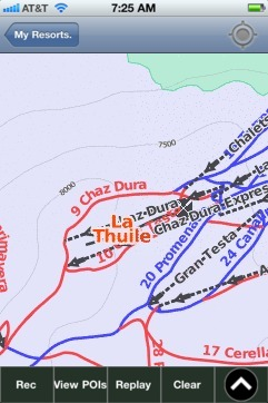 La Thuile ski map - iPhone Ski App