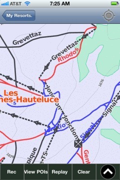 Les Contamines-Hauteluce ski map - iPhone Ski App