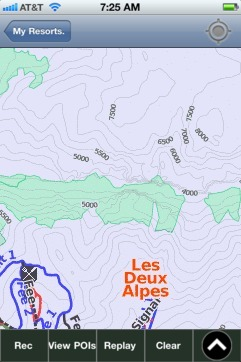 Les Deux Alpes ski map - iPhone Ski App